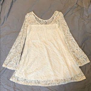 White lace dress, Aeropostale's Bethany Mota